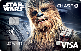 STAR WARS Rewards VISA® Cards from CHASE with Chewbacca design