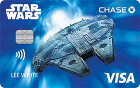 STAR WARS Rewards VISA® Cards from CHASE with Millennium Falcon design