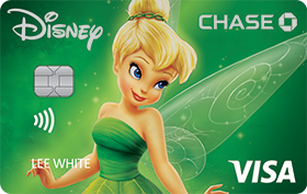 Disney Rewards VISA® Cards from CHASE with Tink design
